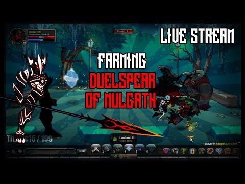 -AQW- Farming Duel Spear Of Nulgath LiveStream!