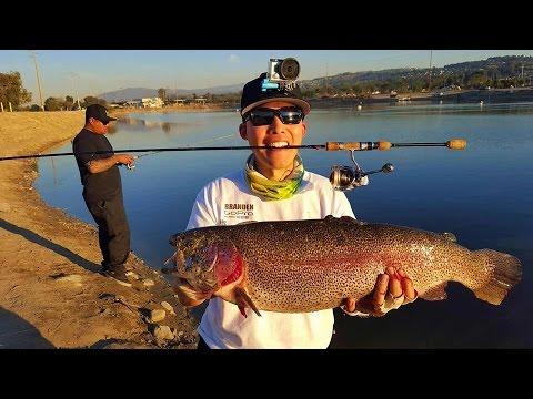 Santa Ana River Lakes - DOUBLE D Superrr Trout! - 12/18/2015