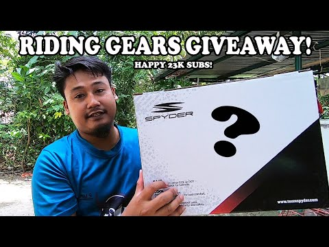23k SUBS GIVEAWAY! FULL FACE HELMET and more.