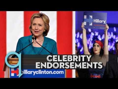 Celebrity endorsements pour in for 2016 candidates