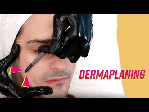 Man Gets DERMAPLANING W/ EXTRACTIONS For The FIRST Time (relaxing)