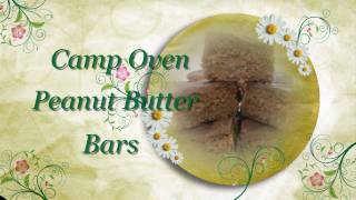Camp Oven Peanut Butter Bars