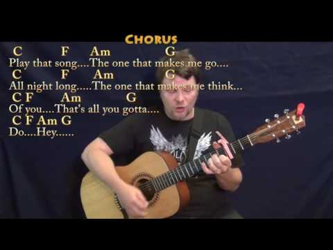 Play That Song (Train) Guitar Cover Lesson with Chords/Lyrics - Capo 3rd