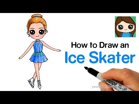 How to Draw an Ice Skater | Olympic Figure Skating