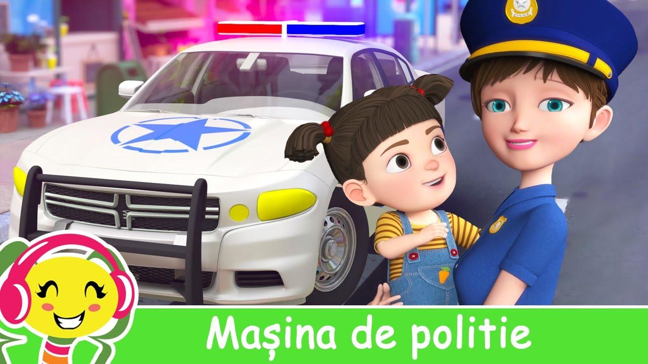 Masina de politie pentru copii ? Cantece si desene animate ? CanteceGradinita