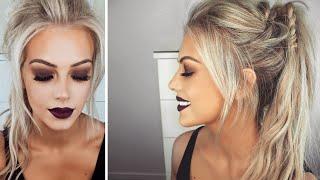fall autumn inspired makeup hair tutorial   chloe boucher