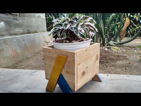 How To Make Cube Wood Plant Stand - Simple But Love It