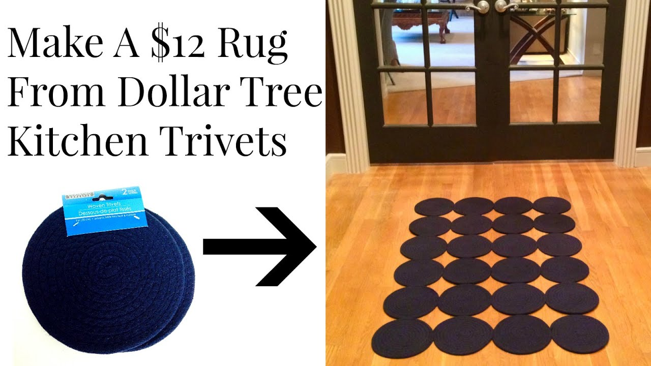 Dollar tree 12 rug from woven trivets diy youtube doublecrazyfo Image collections