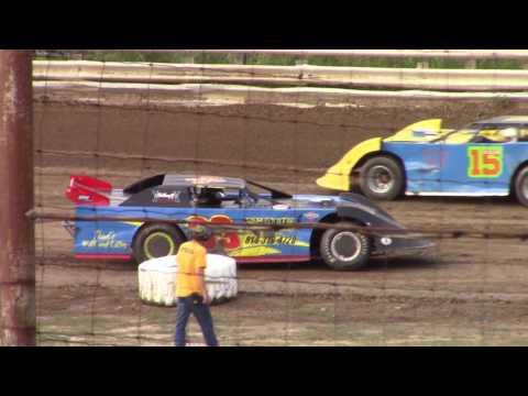 Hummingbird Speedway (7-15-17): Swanson Heavy Duty Truck Repair Semi-Late Model Heat Race #2