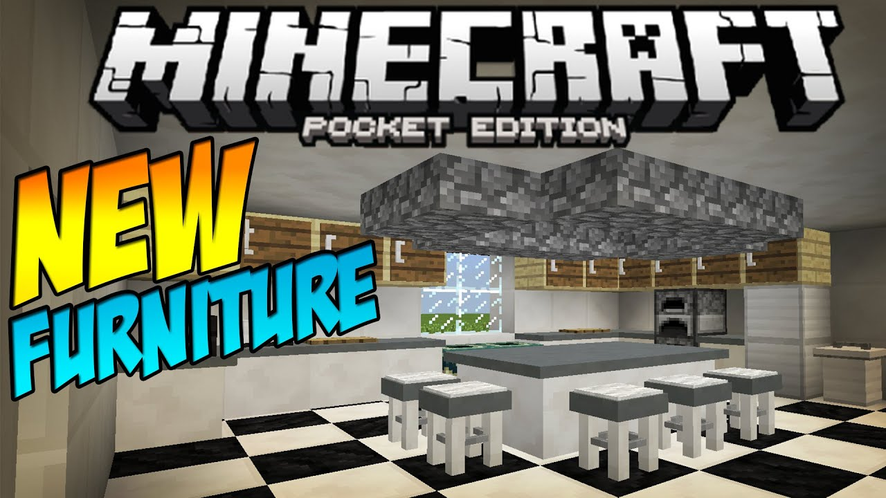 [0.11.1] FURNITURE MOD!!   Table, Stools U0026 MORE!   Minecraft Pocket Edition    YouTube