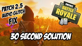 Fortnite Sound Delay Glitch/Bug - SOLUTION FIX QUICK