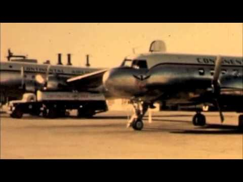 Continental Airlines Footage of DC 3 & Conviar Aircraft Early 1950's