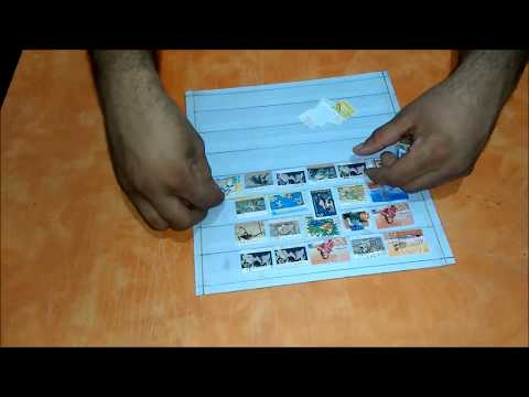 How to make DIY Postage Stamp Stock Book / Postage Stamp album / Stamp collection book / Stamp Book
