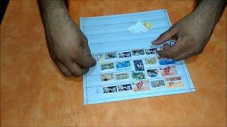 How to make Postage Stamp Collection Album / Stamp Stockbook
