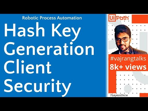 2  how to hash key generation uipath