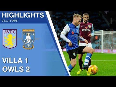 Aston Villa 1 Sheffield Wednesday 2 | Extended highlights | 2017/18
