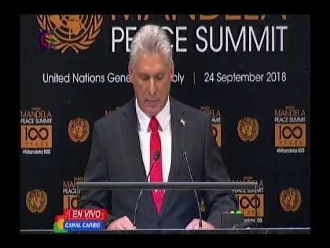Presidente cubano Miguel Díaz-Canel en la ONU