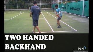 2 handed backhand mili split method by rtc noriko halaveli resort