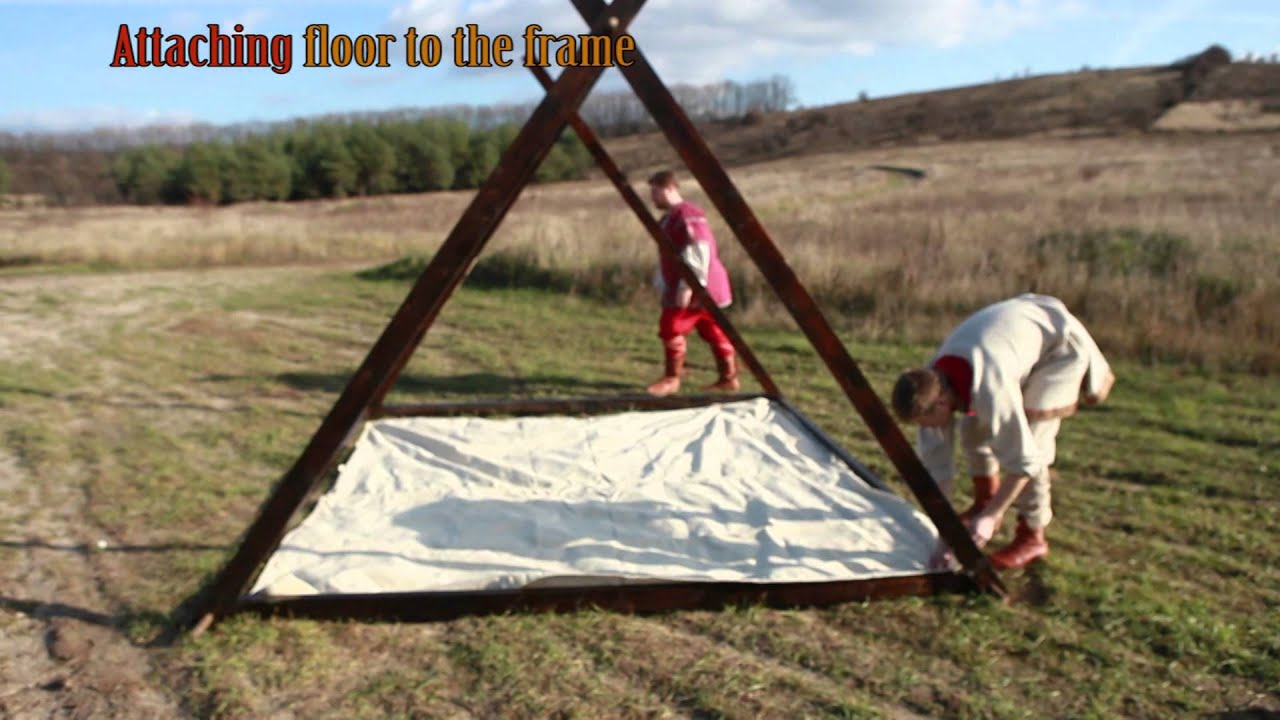 & Viking Canvas Tent 10u0027x10u0027 by ArmStreet - YouTube