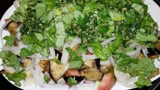 Муж американец обожает салат с баклажанами и помидорой. Мой рецепт.