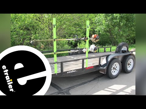 Review of the Tow-Rax Trimmer Rack for Open Utility Trailers - etrailer.com