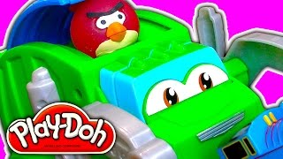 Play Doh Trash Tossin Rowdy Garbage Truck Recycled Toy Review Fail