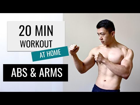 20 MINUTE ABS + ARMS WORKOUT// No Equipment at Home