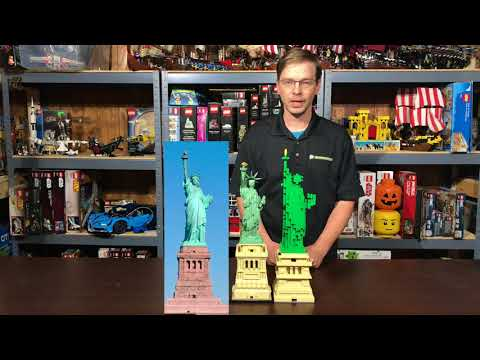 Lego Statue of Liberty 21042 - Review, Facelift, and Comparison