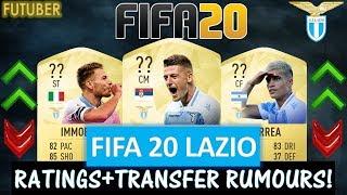 FIFA 20   LAZIO PLAYER RATINGS!! FT. MILINKOVIC-SAVIC, IMMOBILE, CORREA ETC... (TRANSFER RUMOURS)