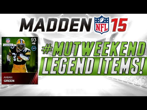MUT 15 - NEW LEGENDS Ahman Green and Otto Graham in Madden 15 Ultimate Team