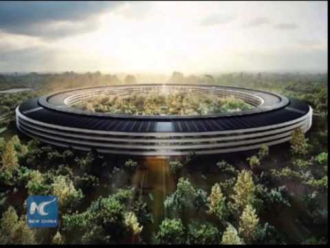 Apple campus looks like soft park in China