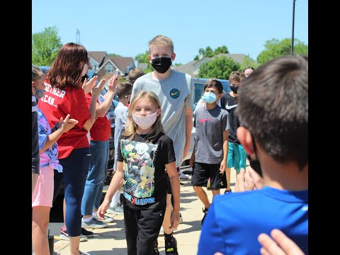 Eagle Pointe Elementary School Fifth Grade Clap Out Farewell Parade 6.2021