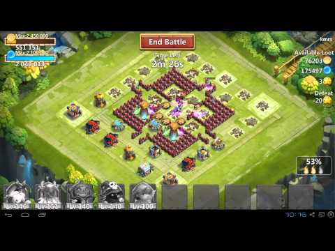 Castle Clash Raiding For Gold And Spirit Mage 8 Star!
