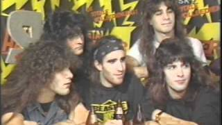 Metal Hammer 1986 Party feat Iron Maiden, Anthrax, Thin Lizzy etc. (67 of 100+ Interview Series)