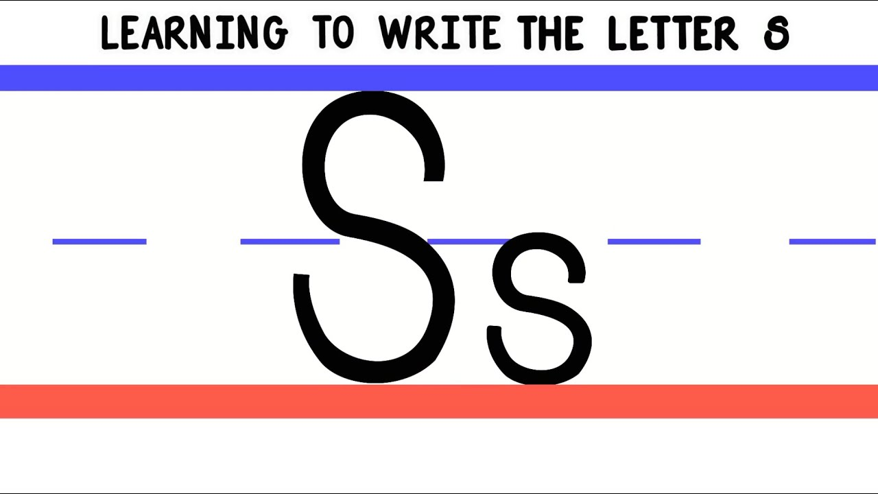 Image result for learning to write the letter s