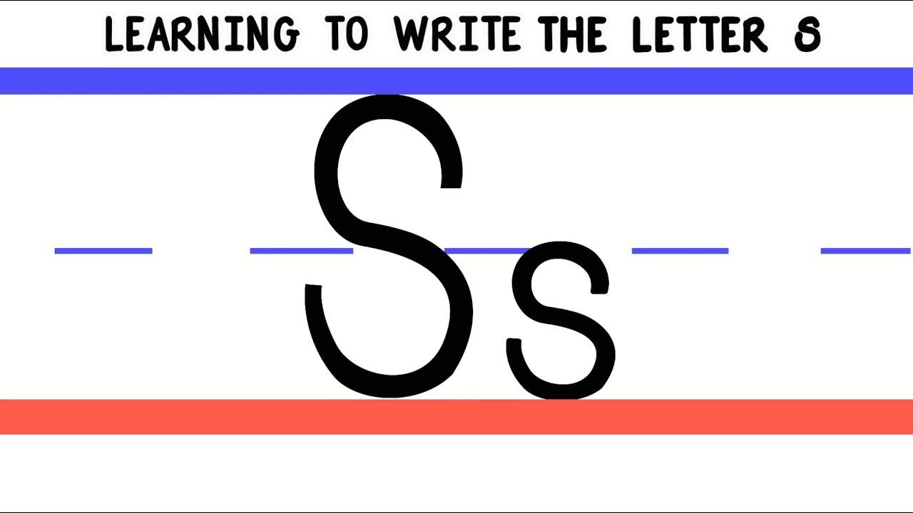 Writing The Letter S - Laptuoso