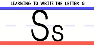 Write the Letter S - ABC Writing for Kids - Alphabet Handwriting by 123ABCtv