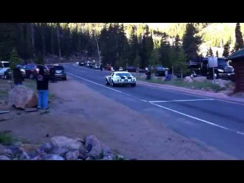 Pikes Peak 2013 startline: Ralf Murdock's 1970 Chevrolet Camaro SS launch