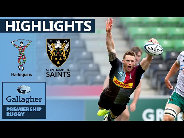 Harlequins v Northampton - HIGHLIGHTS | Bonus Point after Tense First Half! | Gallagher Premiership