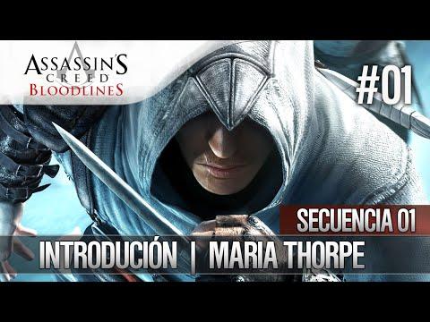 Assassin's Creed Bloodlines | Walkthrough Español | Bloque de Memoria 1 | María Thorpe Introducción