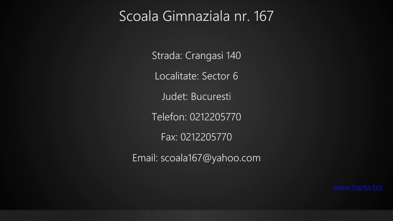 Scoala Gimnaziala Nr 167 Sector 6 Youtube