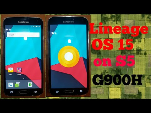 Lineage OS 15 Oreo for S5 g900h