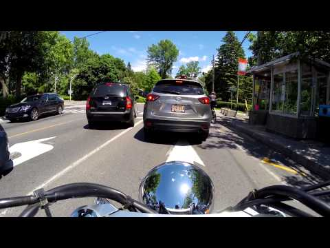 Riding around the West Island of Montreal