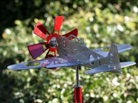 Japanese Mitsubishi A6M Zero - Wind Plane by American Yard Art