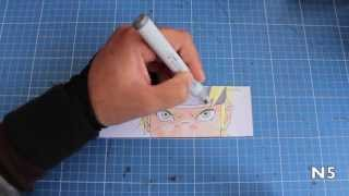 How to color Naruto using Copic markers
