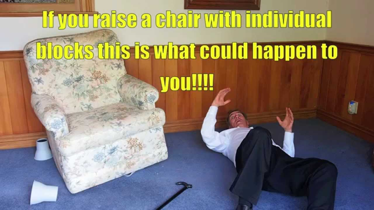 Raise Your Chair Safely With Mulitifit Chair Raisers!