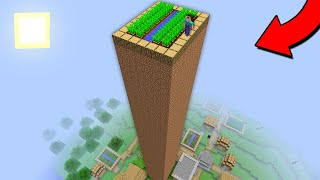 THIS IS THE HIGHEST FARMLAND IN THE VILLAGE! WHO BUILT THIS? Minecraft - NOOB vs PRO