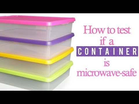 how to tell if a container is microwave safe