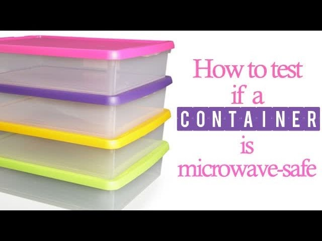 tell if a container is microwave safe