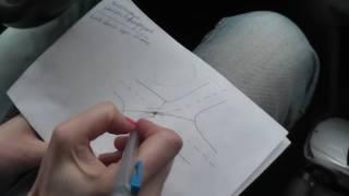 Автонакат - Как проехать кривой перекресток с левым поворотом.